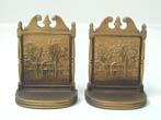 click to view detailed description of A Pair of Bradley & Hubbard Antique Bookends circa 1925