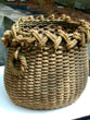 click to view detailed description of American Woven Eel Basket Circa 1880