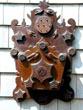 click to view detailed description of A Pennsylvania Carved folk art Wall Box Circa 1870