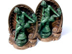 click to view detailed description of A Fine and Early Pair of Bradley and Hubbard Bookends Circa 1880.
