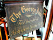 click to view detailed description of A Fine and Rare English Sign board for the George Inn Circa 1820