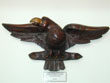 click to view detailed description of 19th Century American Folkart carved Eagle with Glass Eyes