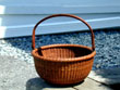 click to view detailed description of Fine Small Nantucket Lightship Basket Attributed to William Appleton c. 1900