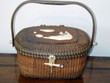 click to view detailed description of Magnificent Nantucket 'Friendship' Basket made by Jose Formosa Reyes Circa 1950