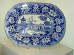 click to view detailed description of Large Staffordshire Well and Tree Meat Platter circa 1830