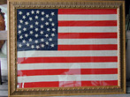 click to view detailed description of Wonderful 44 Star American Flag With Rare Star Configuration Circa 1890