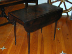click to view detailed description of Antique Federal Period Mahogany Pembroke Table Circa 1810
