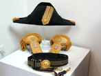 click to view detailed description of Antique American Naval Officers Hat, Epaulettes, Sword Belt and Case Circa 1890