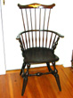 click to view detailed description of Wallace Nutting Comback Armchair Inscribed Boston College With Eagle Circa 1918