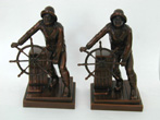 click to view detailed description of Fine Pair of Antique Gloucester Fishermen Bookends