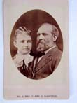 click to view detailed description of Carte de Vista of Mr. and Mrs. James A. Garfield shortly before being elected the 20th President in 1881.