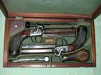 click to view detailed description of Cased Pair of British Officers Percussion Pistols Circa 1845