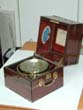 click to view detailed description of Antique Marine Chronometer Signed 'Richard Hornby & Sons, Liverpool,' Circa 1860