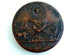 click to view detailed description of A Fine and Rare French Napoleonic Period Walnut Snuff Box circa 1795