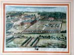click to view detailed description of An Early 18th century English Country House Engraving of SOUTHWICK by John Kip circa 1724