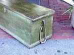 click to view detailed description of An American Sailors Sea Chest With Original Painted Surface Circa 1820