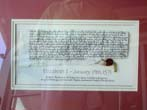 click to view detailed description of A 16th century Elizabethan Period Title Deed Dated January 19, 1571