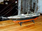 click to view detailed description of A 19th Century Sailor-Made Ship Model