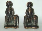 click to view detailed description of A Charming Pair of Sailor Boy Antique Bookends circa 1930