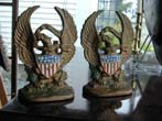 click to view detailed description of An Antique Pair of Patriotic Eagle and Shield Bookends circa 1890-1910