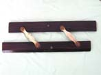 click to view detailed description of A 19th century Rosewood Parallel Ruler stamped A J S & Co.