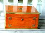 click to view detailed description of A China Trade Period Brass Bound Camphorwood Dressing Case Circa 1830