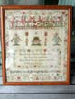 click to view detailed description of A Scottish School Girl Needlework Sampler signed Florence G. Anderson, Glasgow, October 12, 1815