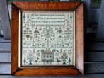 click to view detailed description of A Scottish School Girl Needlework Sampler signed