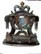 click to view detailed description of An Antique Carved Pocket Watch Stand, Possibly French, circa 1790