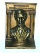 click to view detailed description of A BRADLEY & HUBBARD Single Bronze Bookend of Abraham Lincoln circa 1930