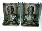 click to view detailed description of A Pair of BRADLEY & HUBBARD Antique Bookends depicting