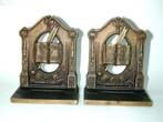 click to view detailed description of A Pair of Bradley & Hubbard Philosphers Antique Bookends circa 1920