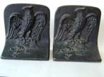 click to view detailed description of A Pair of Antique BRADLEY & HUBBARD Patriotic Eagle Bookends circa 1900