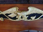 click to view detailed description of A Magnificent Carved Eagle Trailboard by Maine Carver H.B. Simmonds circa 1940