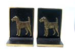 click to view detailed description of A Pair of Bradley & Hubbard Fox Terrier Antique Bronze Bookends circa 1925