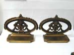 click to view detailed description of A Pair of Antique BRADLEY & HUBBARD Flower Urn Bookends circa 1925
