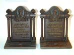 click to view detailed description of A Pair of Antique bookends by BRADLEY & HUBBARD Memorializing JOHN GREENLEAF WHITTIER (1807-1892)