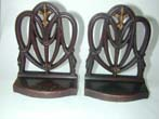 click to view detailed description of A Rare pair of Bradley & Hubbard 'Sheraton' Style Chair Back Bookends circa 1910