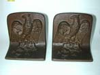 click to view detailed description of A Wonderful Pair of Bradley & Hubbard Bronze Patriotic Eagle Bookends circa 1900