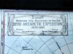 click to view detailed description of A Rare and Historic Hand Drawn Chart of Admiral Richard E. Byrds 2nd Antarctic Expedition 1933-1935