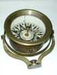 click to view detailed description of A Rare Tell-Tale Ship Captains Compass Signed John Bliss & Co., New York, circa 1850