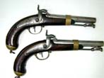 click to view detailed description of Unissued and Unfired Pair of French Model 1837 Percussion Naval Pistols