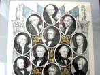 click to view detailed description of A Circa 1853 Colored Lithograph Depicting the first 12 Presidents of the United States