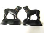 click to view detailed description of A Pair of Bradley & Hubbard Antique Bookends Depicting a Bull Dog circa 1920