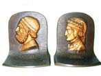 click to view detailed description of A Fine Pair of Bradley & Hubbard Antique Bookends Depicting DANTE and