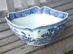 click to view detailed description of An 18th century Chinese Export Porcelain 'Cut-Corner' Salad Bowl circa 1765