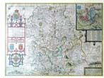 click to view detailed description of John Speed's County Map of Shropshyre, England circa 1612