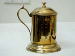 click to view detailed description of A Rare 18th century English Brass Tankard with Tin Lining Circa 1770