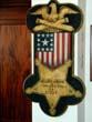 click to view detailed description of A Rare Carved & Painted Civil War Grand Army of the Republic (G.A.R.) Veterans Post Sign circa 1882