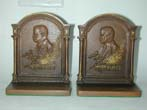 click to view detailed description of A Pair of Theodore Roosevelt Antique Bookends by Bradley & Hubbard circa 1905